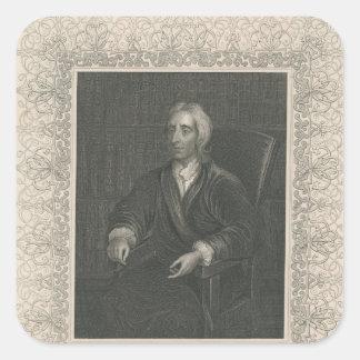 John Locke Square Sticker