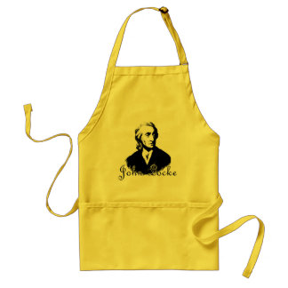 JOHN LOCKE T shirts and products Adult Apron
