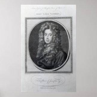 John, Lord Somers, engraved by John Golder, 1785 Poster