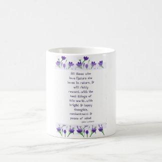 John Lubbock Quote with Spring Crocus Flowers Mugs