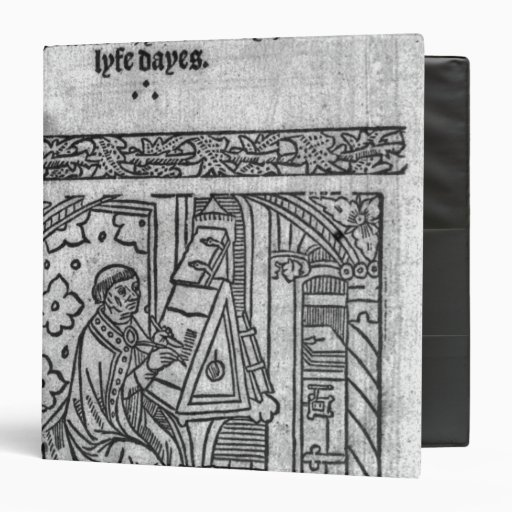 John Lydgate at his desk, c.1515 Vinyl Binder