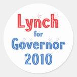 John Lynch for Governor 2010 Star Design Round Sticker