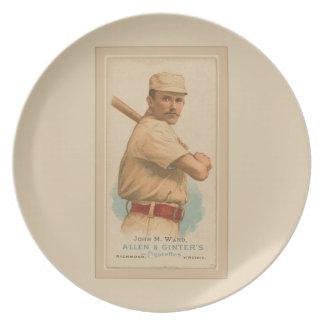 John M. Ward Tobacco Ad Party Plates