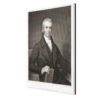 John Marshall (1755-1835), engraved by Asher Brown Canvas Print