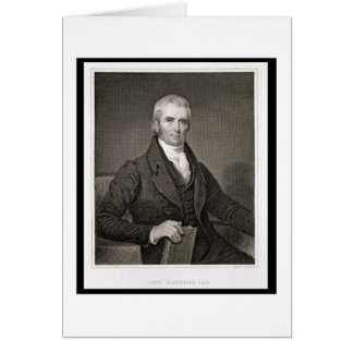 John Marshall (1755-1835), engraved by Asher Brown Greeting Cards