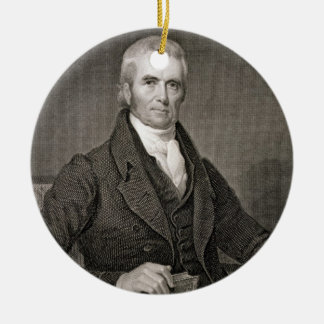 John Marshall (1755-1835), engraved by Asher Brown Ceramic Ornament
