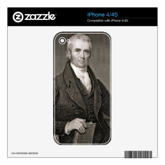 John Marshall (1755-1835), engraved by Asher Brown Decal For iPhone 4