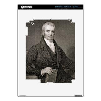 John Marshall (1755-1835), engraved by Asher Brown iPad 3 Skin