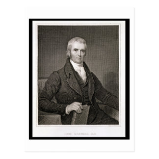 John Marshall (1755-1835), engraved by Asher Brown Postcard