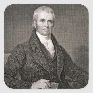John Marshall (1755-1835), engraved by Asher Brown Square Sticker