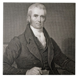 John Marshall (1755-1835), engraved by Asher Brown Tile