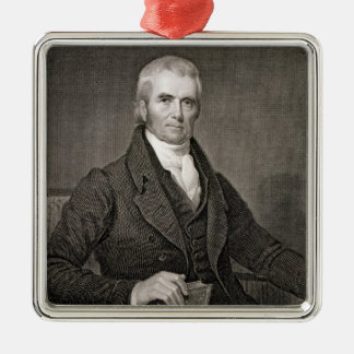 John Marshall 1755-1835 grabado por Asher Brown Adornos De Navidad
