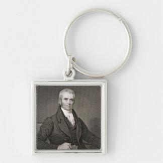 John Marshall (1755-1835), grabado por Asher Brown Llavero Cuadrado Plateado