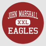 John Marshall - Eagles - High - Milwaukee Classic Round Sticker