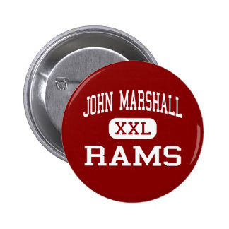 John Marshall - Rams - High - San Antonio Texas Pinback Button