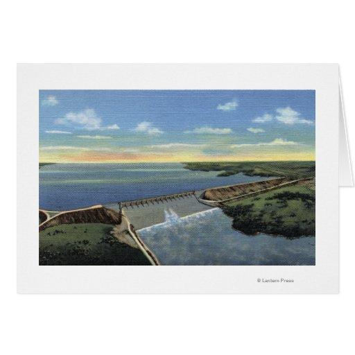 John Martin (Caddoa) Dam across Arkansas River Card