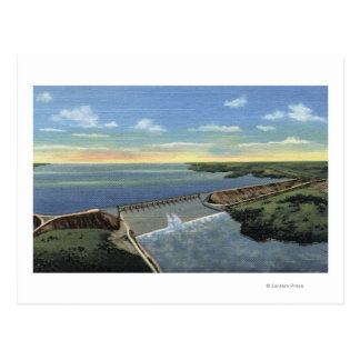 John Martin Caddoa Dam across Arkansas River Post Cards