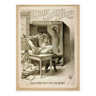 John Martin's Secret Postcard