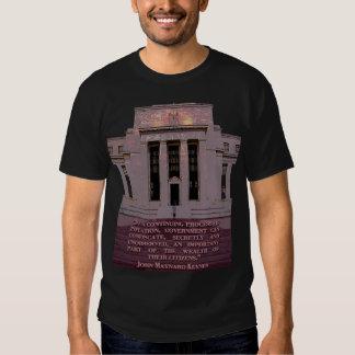 John Maynard Keynes Quote on the Federal Reserve Tee Shirt