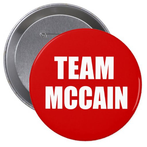 JOHN MCCAIN Election Gear 4 Inch Round Button