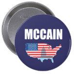 JOHN MCCAIN Election Gear Pinback Button