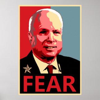 John McCain - Fear Poster