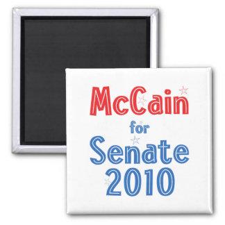 John McCain for Senate 2010 Star Design 2 Inch Square Magnet