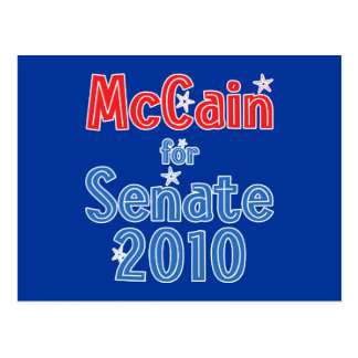 John McCain for Senate 2010 Star Design Postcard