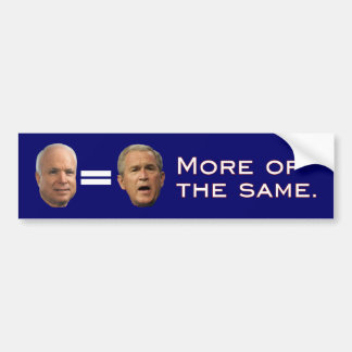 John McCain = George W. Bush (revés) Pegatina Para Auto