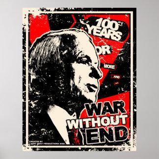 John McCain: Guerra sin el extremo apenado Póster