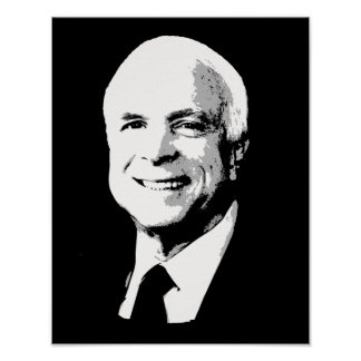 John McCain hace frente Póster