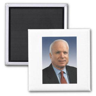 John McCain 2 Inch Square Magnet