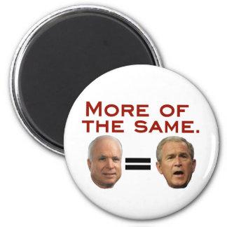 John McCain: Más iguales. McSame. Imán Redondo 5 Cm