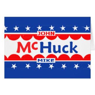 John McCain & Mike Huckabee McHUCK Stationery Note Card