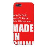 John McCain no sabe el iPhone hecho en China iPhone 5 Coberturas