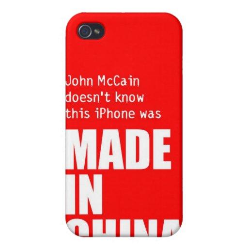 John McCain no sabe el iPhone hecho en China iPhone 4 Carcasa
