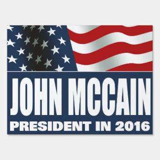 John McCain President 2016 Lawn Sign