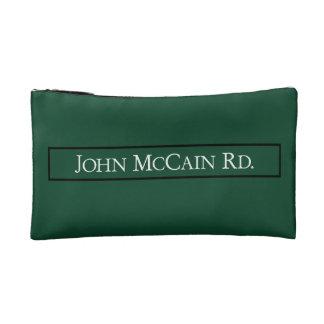 John McCain Road, Road Sign, Texas, USA Cosmetic Bag