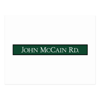 John McCain Road, Road Sign, Texas, USA Postcard