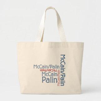 John McCain Sarah Palin 2008 Canvas Bag
