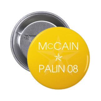 John McCain * Sarah Palin 2008 Button