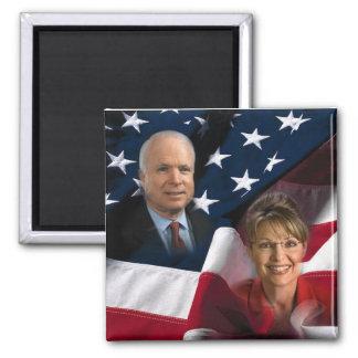 John McCain & Sarah Palin, 2008 Elections 2 Inch Square Magnet
