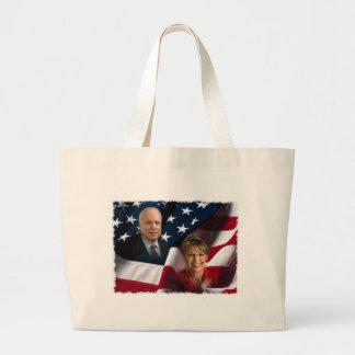John McCain & Sarah Palin, 2008 Elections Tote Bag