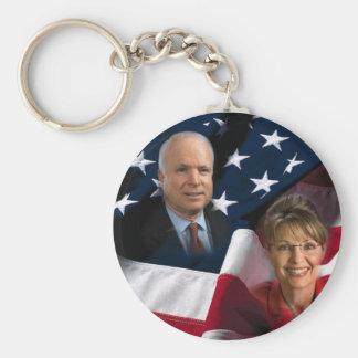 John McCain Sarah Palin 2008 Elections Key Chains