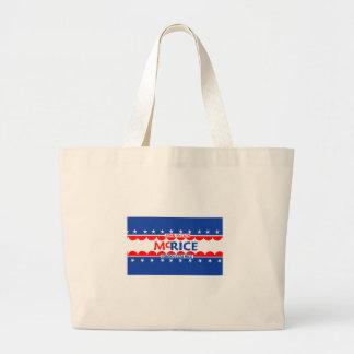 John McCain y bolso del arroz de Condi Bolsa Tela Grande