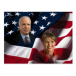 John McCain y Sarah Palin, 2008 elecciones Postal