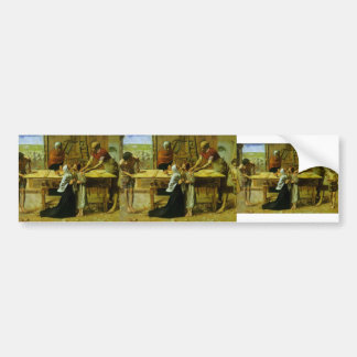 John Millais- Christ in the House of His Parents Car Bumper Sticker