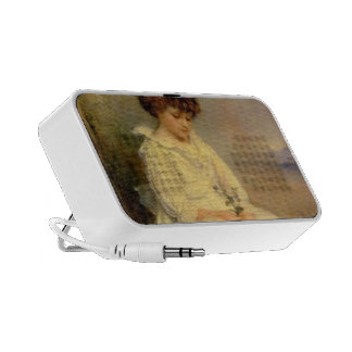 John Millais- Little Speedwell's Darling Blue Portable Speakers