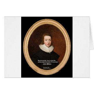 John Milton Love & Chocolate Quote Gifts & Cards