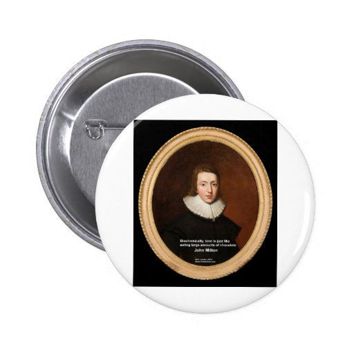 John Milton Love & Chocolate Quote Gifts & Cards Pin